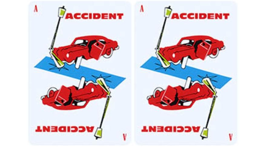 Accident de la route et procédure juridique © 1000 Bornes, jeu de société édité par la société Edmond Dujardin